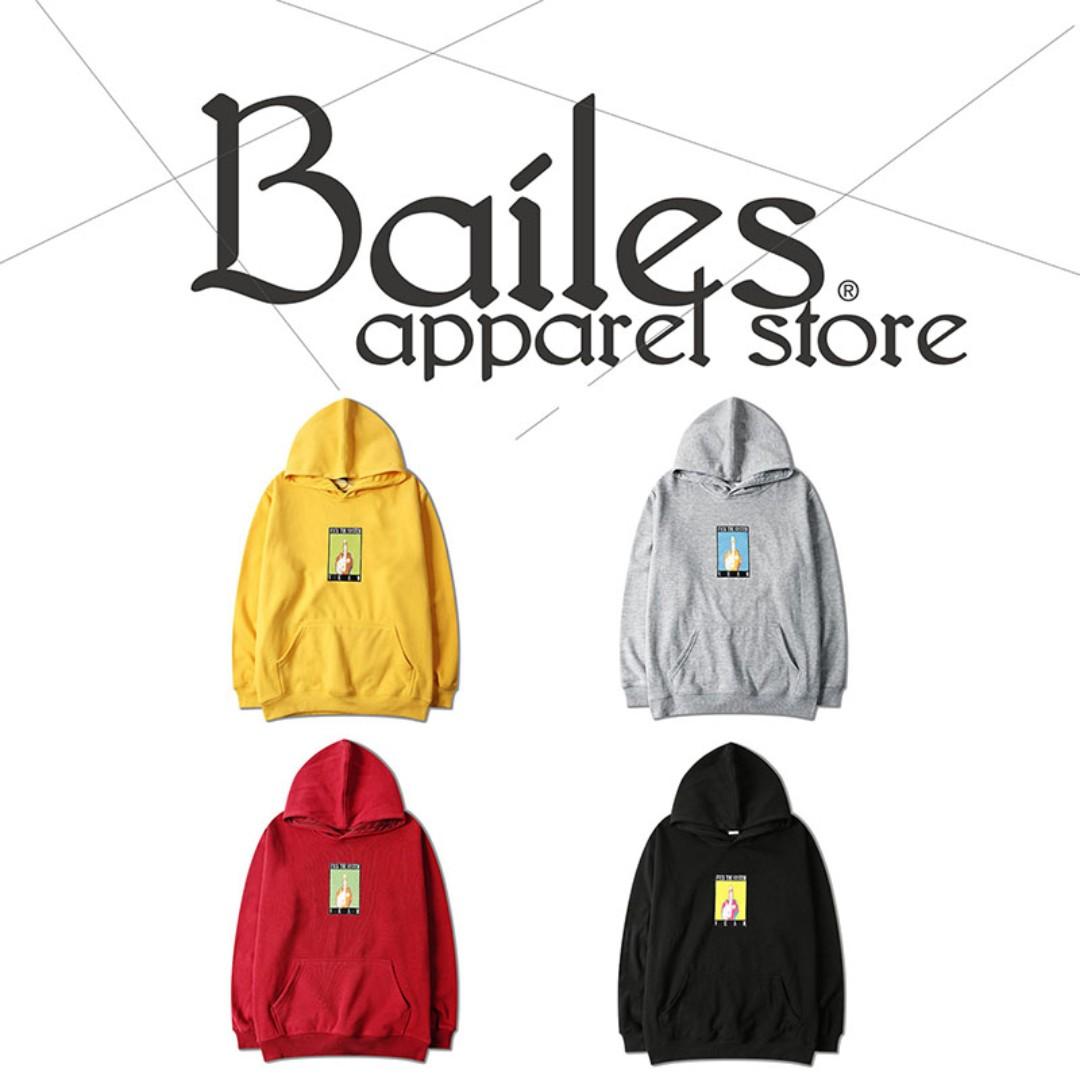 貝里斯Bailes【AA062】日韓版 / 男女款 日韓款趣味圖案印花搭配內裏刷毛保暖連帽百搭款帽T