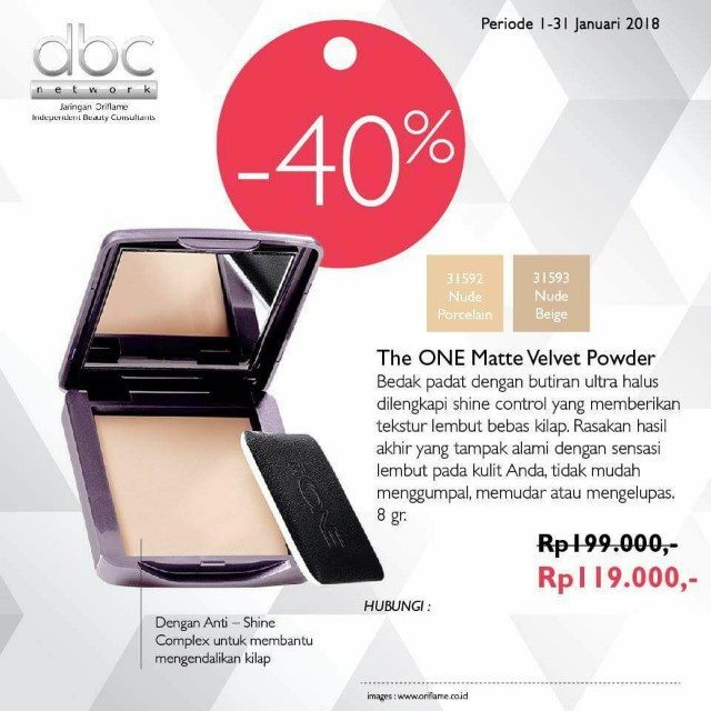 Bedak Padat The ONE Matte Velvet