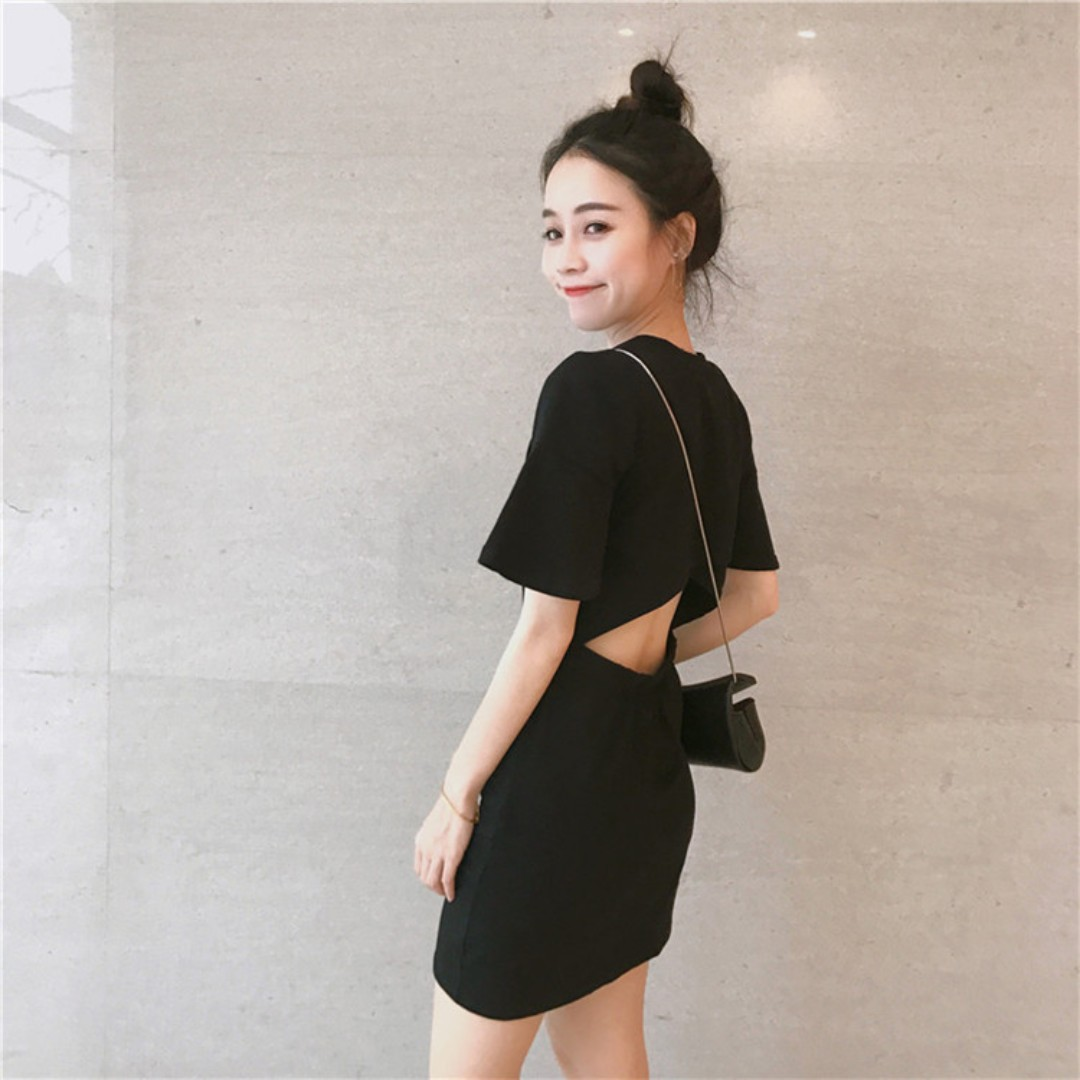 💥READYSTOCK💥 Brand New Black Bare Back Dress