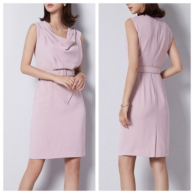 329046df34406 Blush pink work dress ( collar in 2 patterns), Luxury, Apparel on ...