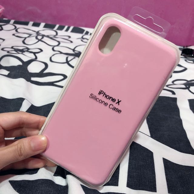 free shipping 2ab44 0e95d BN Apple Inspired Matt Silicone Case in Barbie Pink IPhone X