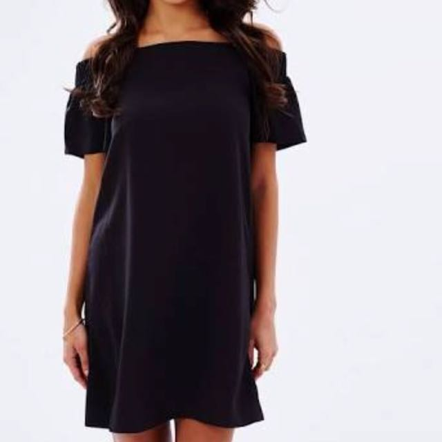 BNWT Black shoulder dress