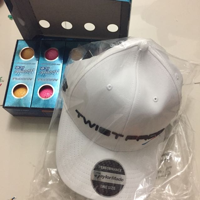 Brand new taylormade cap - twist face with free box of noodle ice golf  balls 55d7821542a
