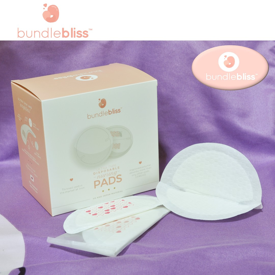 Bundlebliss Disposable Ultra Thin Nursing Breast Pads. 60 counts. Produced by FDA registered manufacturer.
