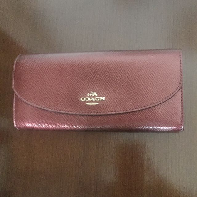 Coach slim wallet (red)