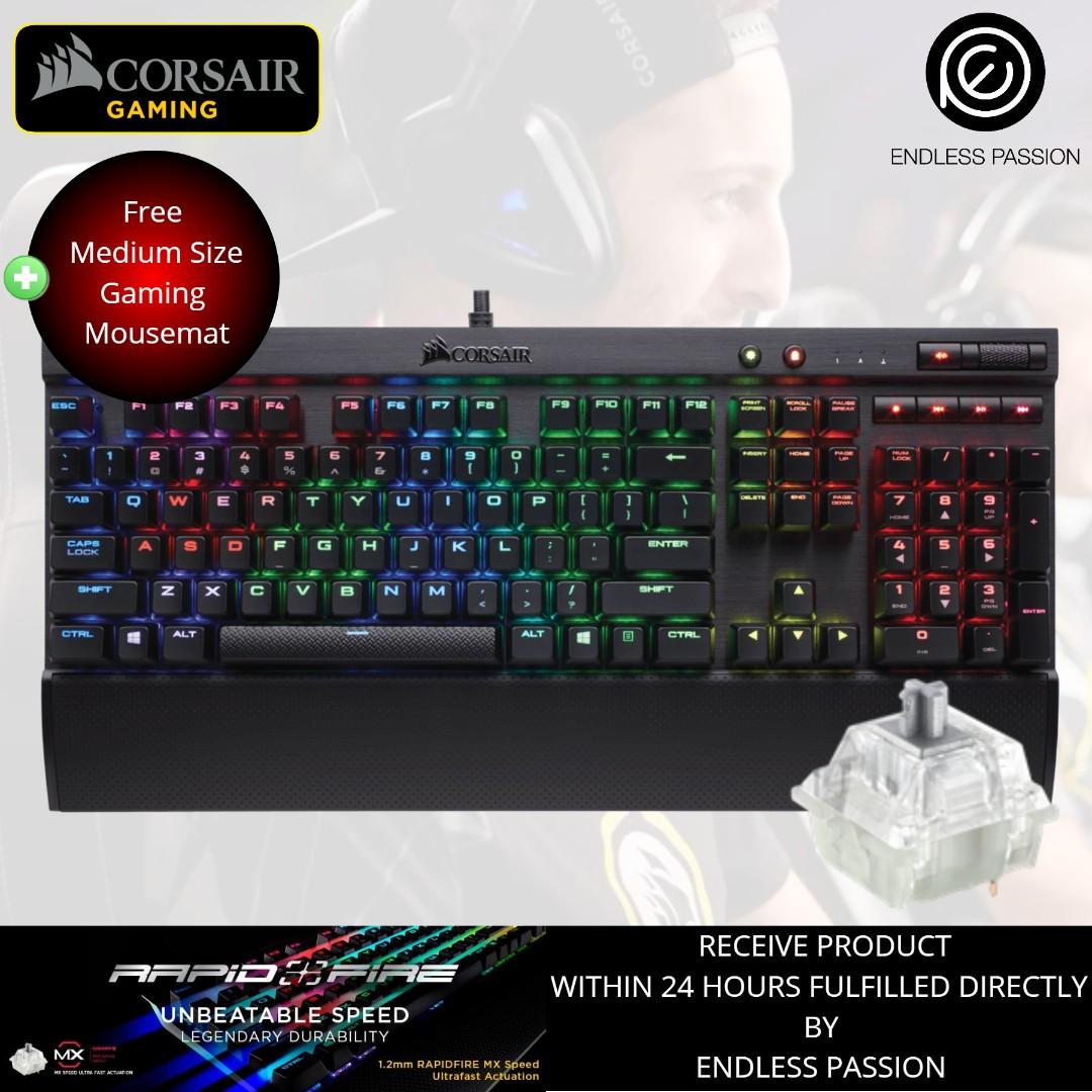 91ceae684fb Corsair Gaming K70 RGB RAPIDFIRE Mechanical Keyboard - Cherry MX ...