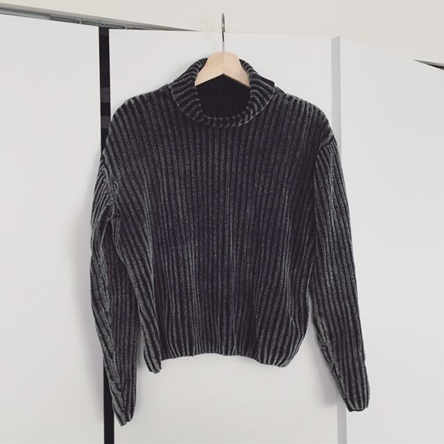 Cropped Roll Neck Sweater