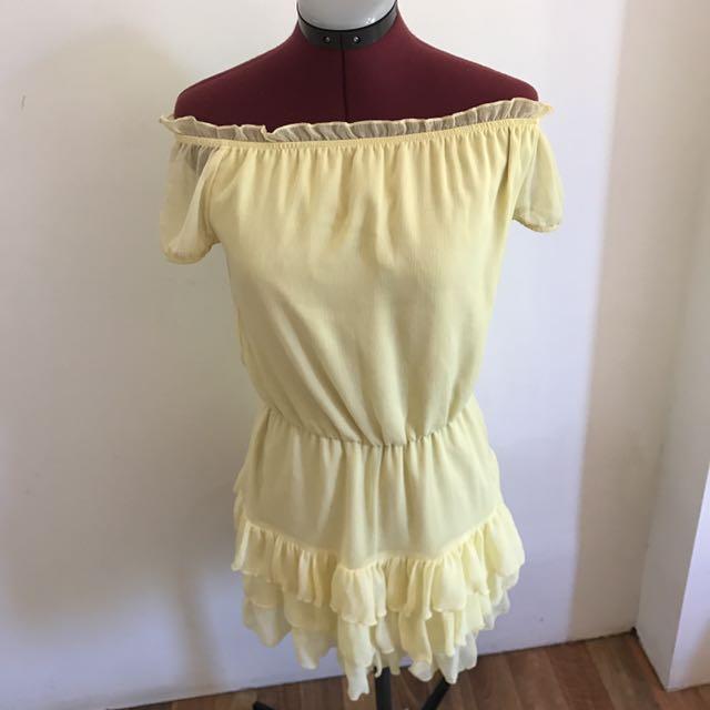 Cute Yellow Summer Dress Size 6