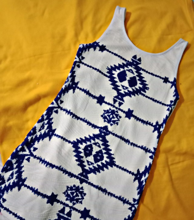 Divided by H&M Blue and White Dress