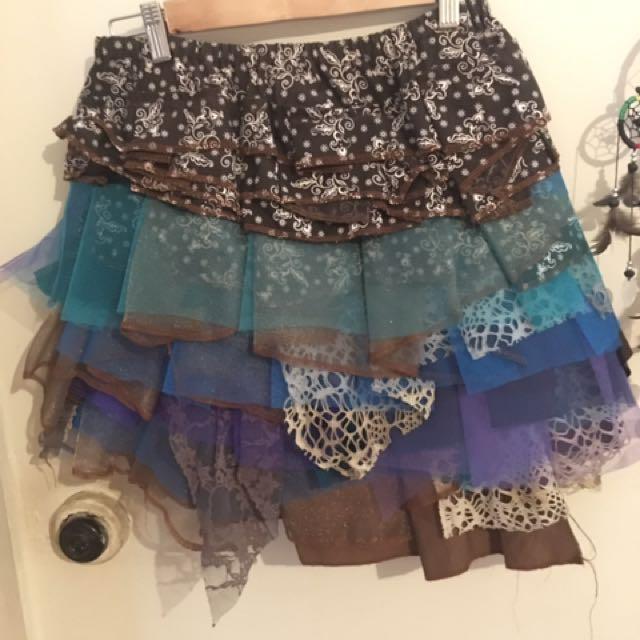 Dreamistree handmade doof festival skirt
