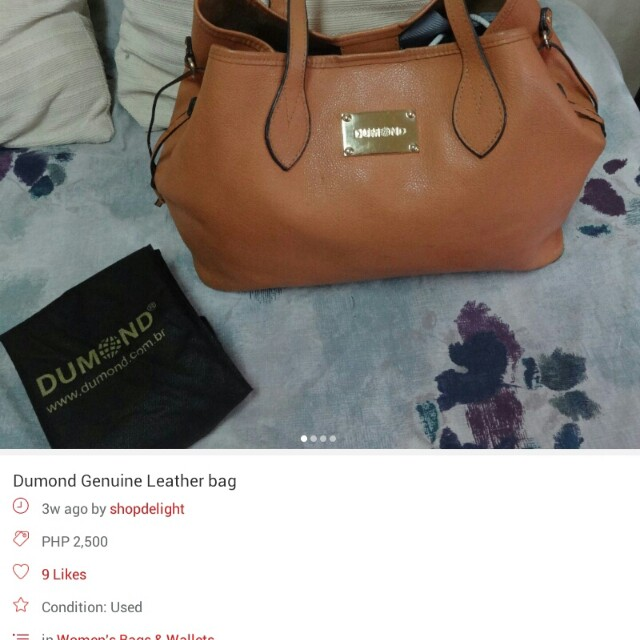 Dumond genuimne leather bag