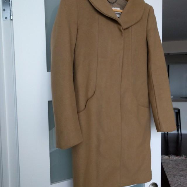 EUC Aritzia Wilfred Camel Cocoon Coat