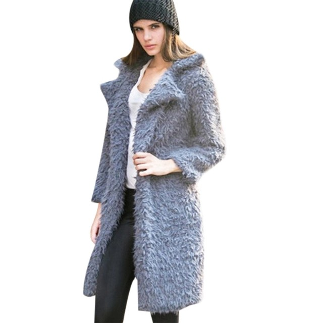 Faux fur coat import korea