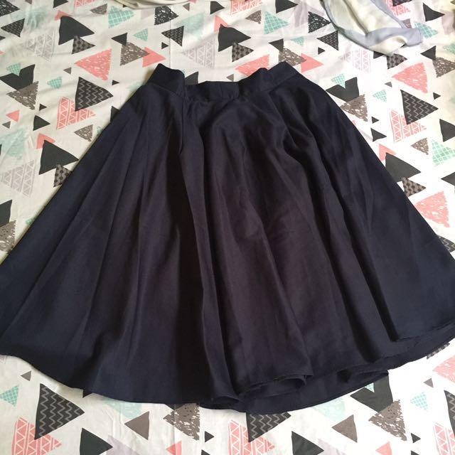 Flare skirt chlorine NAVY