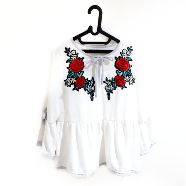 REPRICE! Flowery Flare Top