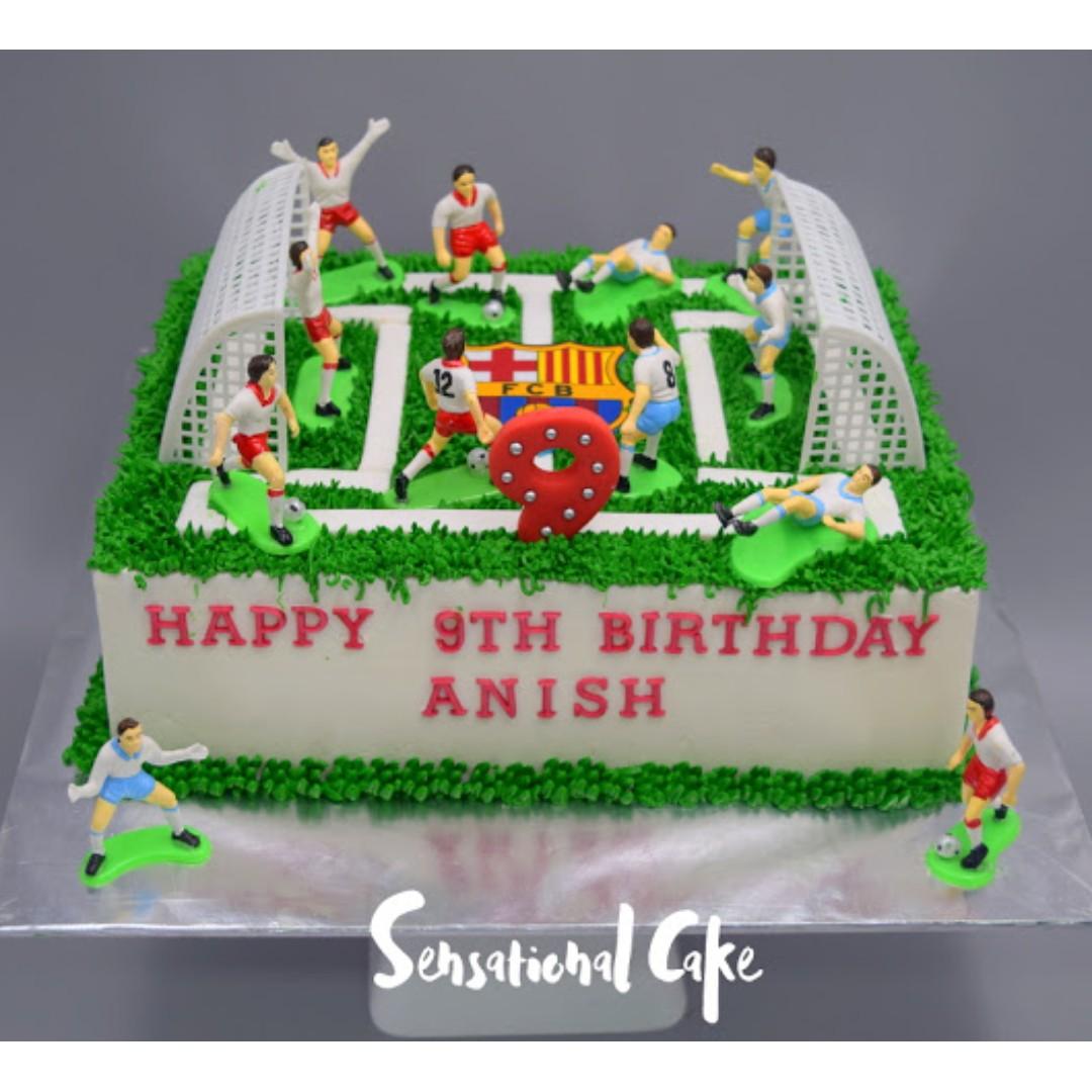 Football Game Players Sport Boy Birthday Cake Singapore