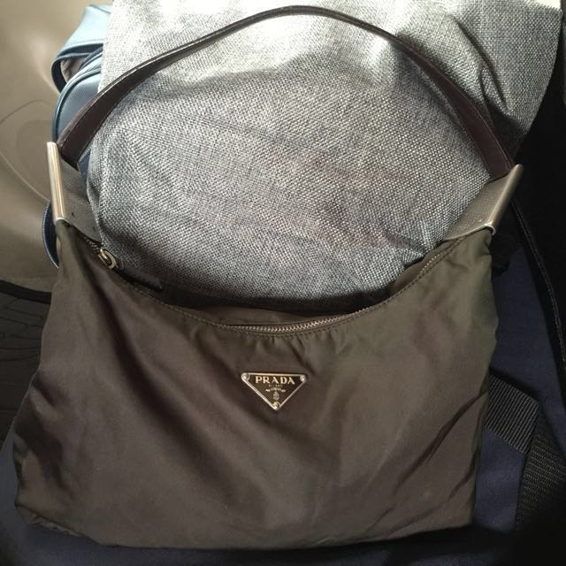 Giveaway Sale!Preowned Authentic Prada Nylon Hobo Bag