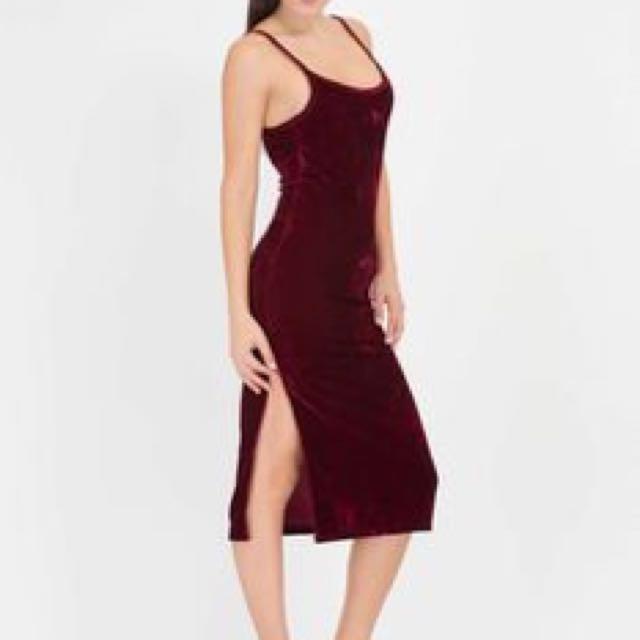 GoJane Vote Velvet Open Back Slip Dress