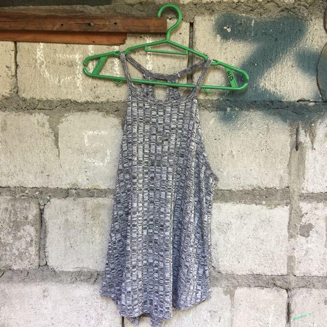 Gray sleeveless