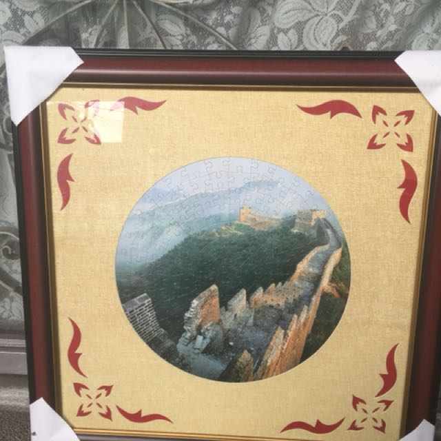 Great wall of China framed puzzle