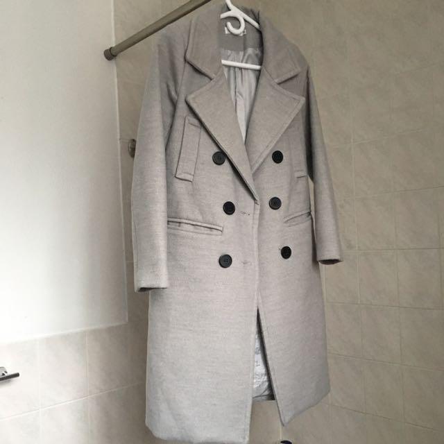Grey Winter wool Coat
