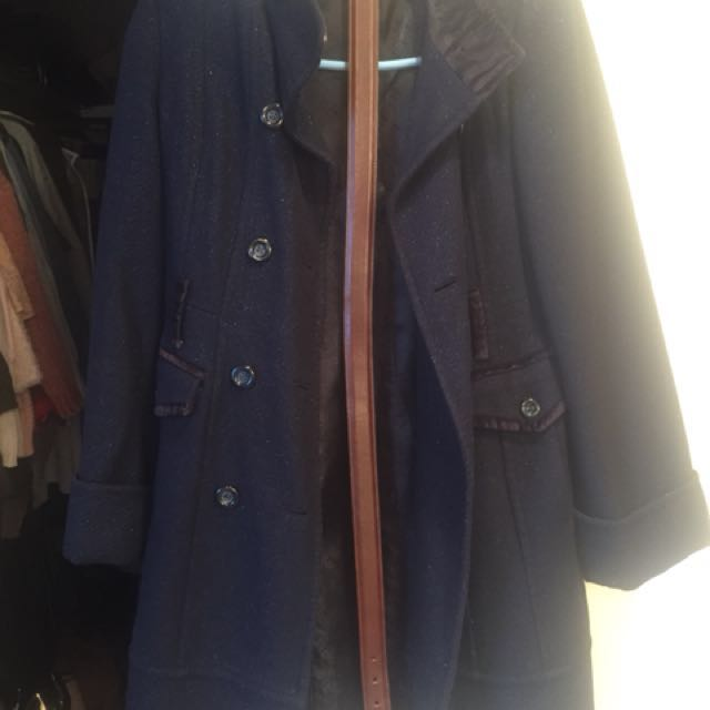 GUESS Blue Military Peacoat