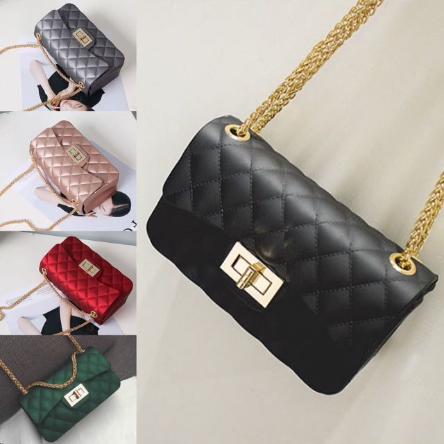 56a35a720dbd HOT Tas Selempang Chanel Chevron Jelly Sling Bag Wanita Impor 4072 ...