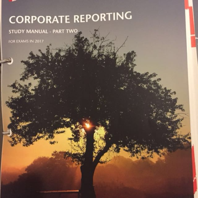 icaew corporate reporting 2017 study manual and question bank books rh sg carousell com Manual Journal icaew financial accounting and reporting study manual pdf free download