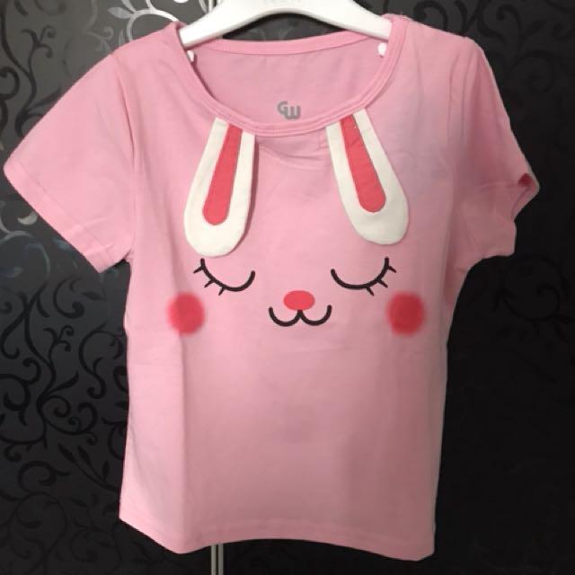Kaos rabbit pink