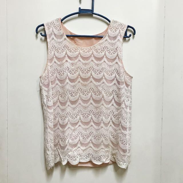 Lace sleeveless shirt
