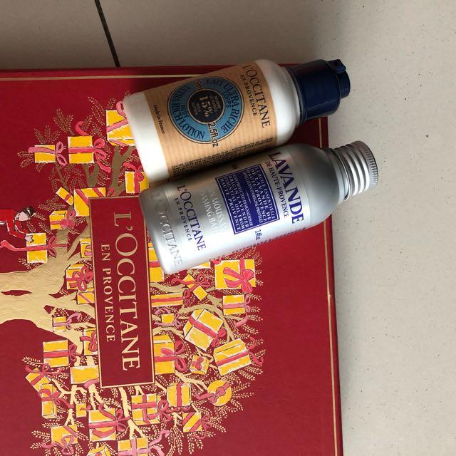 LOCCITANE bath and body lotion