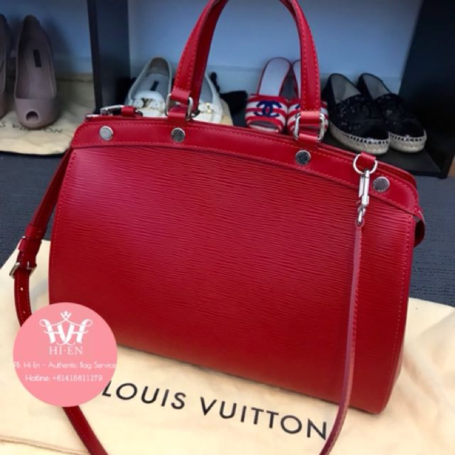 LOUIS VUITTON BREA MM EPI RED