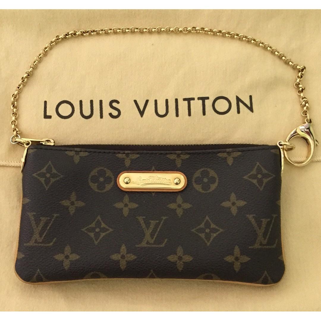 4d48614817df Louis Vuitton LV Monogram Canvas Milla Clutch MM Bag