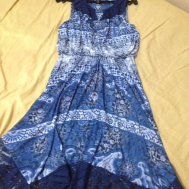MARK DOWN SALE!!!! Style Blue Printed Sleeveless Dress