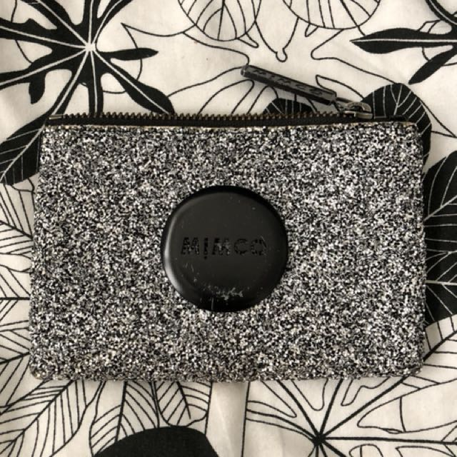 Mimco Black and White Small Pouch