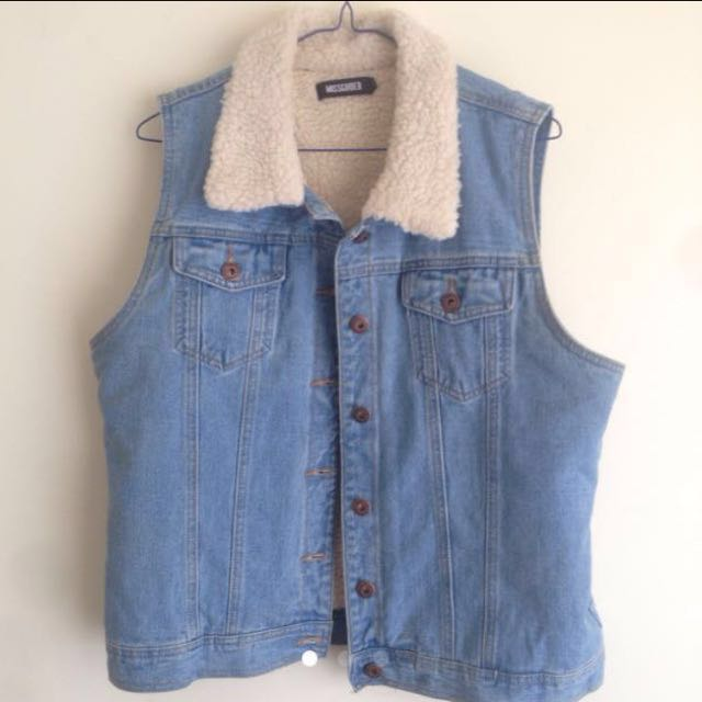 MISSGUIDED Cord Jean Vest