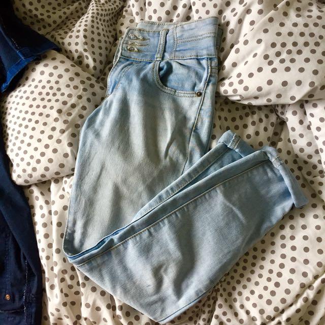 Mom jeans lightwashed