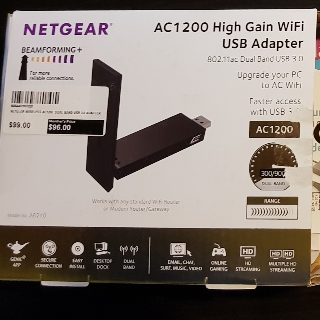 NETGEAR AC1200 High Gain WiFi USB Adapter, Electronics