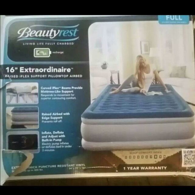 New full size Beautyrest air mattress