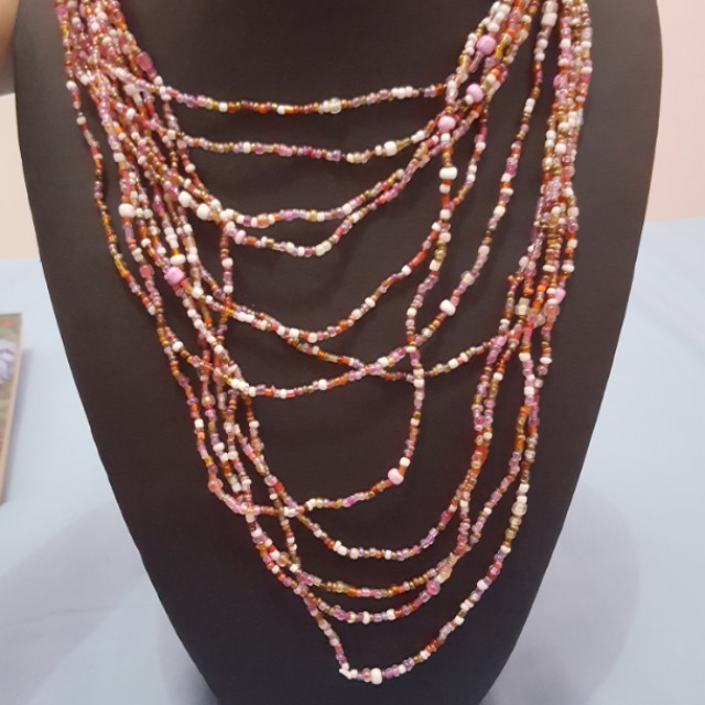 [NEW] Tiny Pink Beads Necklace from Bali