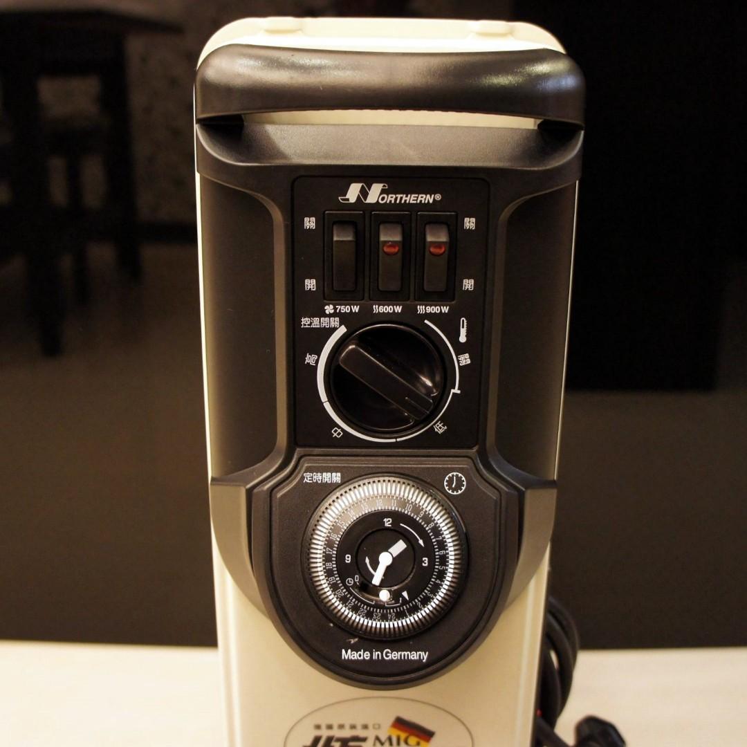 二手葉片式電暖器德國北方NORTHERN 9片 葉片式恆溫電暖器 NR-09ZL【加裝陶瓷熱風】門市更衣室專用,極新少用