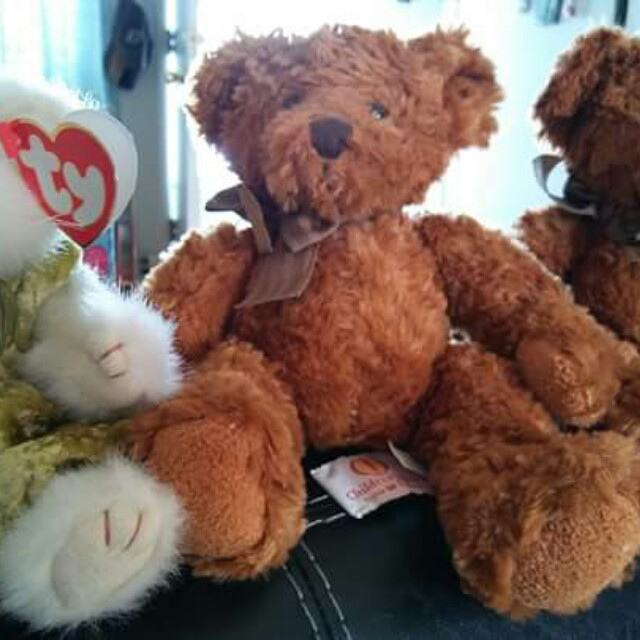 One beanie cat 2 twins teddy bears