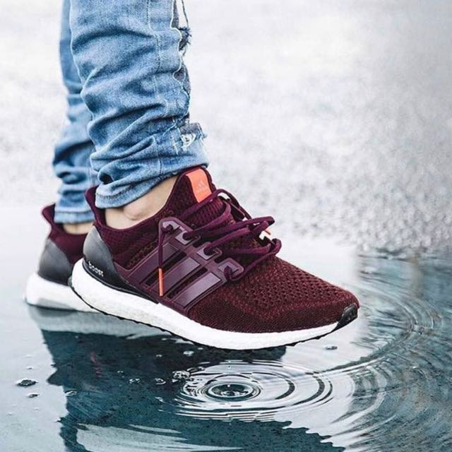 new styles b1c24 2809d ... burgundy is available now coupon code original adidas ultraboost maroon  mens fashion footwear on carousell 81cf2 99542 ...