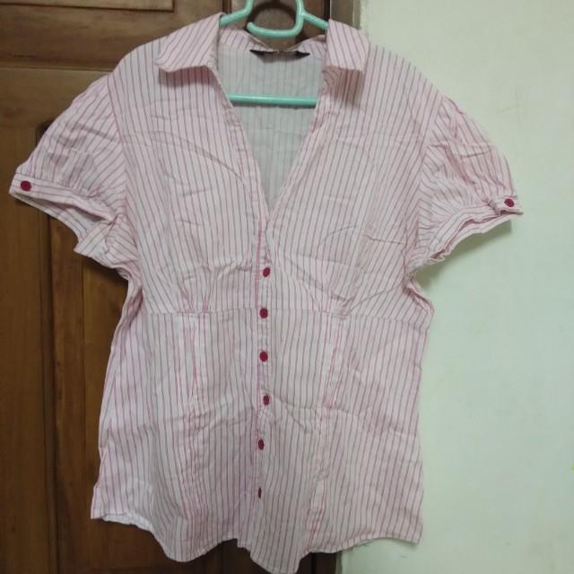 dorothy perkins pink stripes top