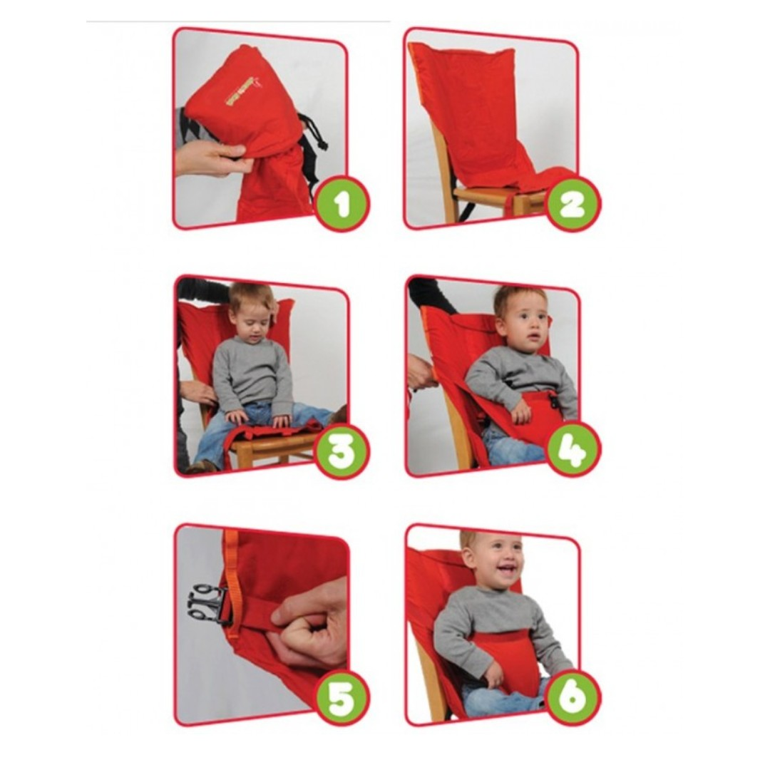 48f844410e9 Portable Travel High Chair Booster Baby Seat Harness Washable Cloth Packable  Sack n seat