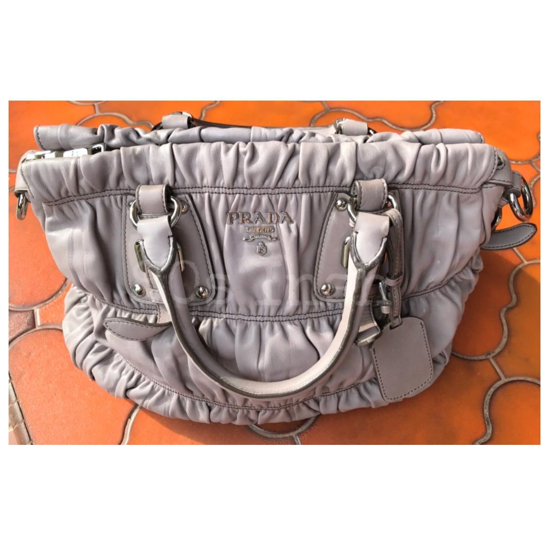 a3932bc39658 Prada Nappa Gaufre Leather Bag Pomice BN1336, Women's Fashion, Bags ...