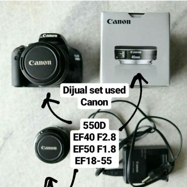 Set canon camera dslr