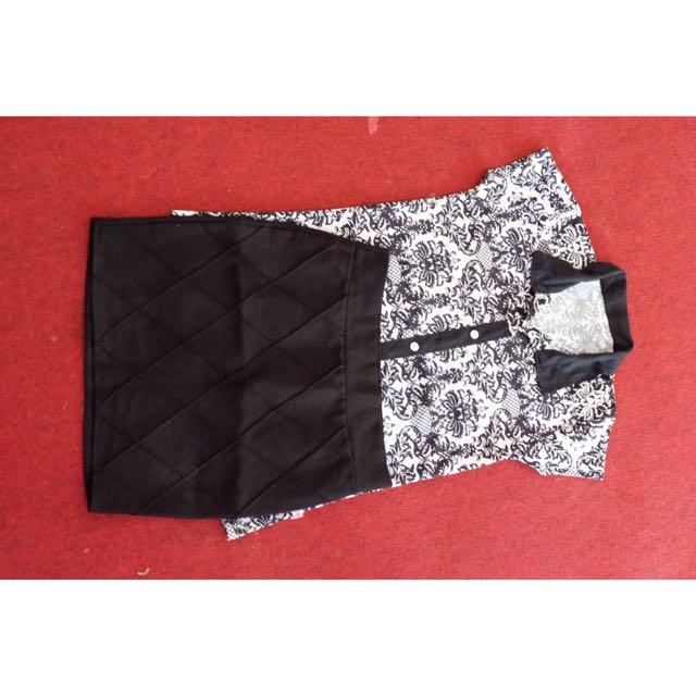 Set t-shirt/kaos flowery & mini skirt/rok mini