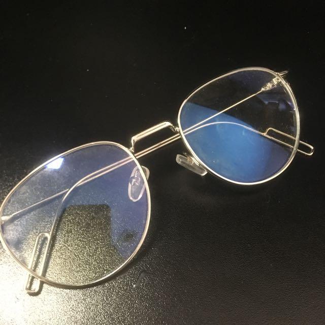 Silver Framed Clear Lens Glasses