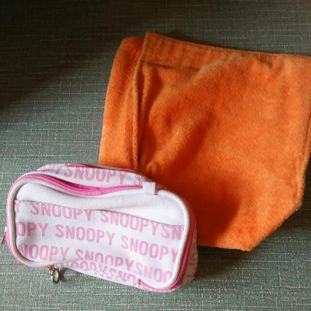 Thermal Pack And Snoopy Make Up Pouch